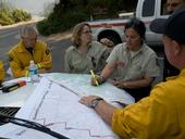 Retired U.S. Forest Service fire chief Jeanne Pincha-Tulley, second from right, is among the inspiring women leaders encouraging women to aspire to be wildland fire managers at the Women-in-Fire Prescribed Fire Training Exchange.