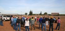 Farmers and industry professionals gather at a UC Cooperative Extension field day at the Tellarico Farm in Manteca, Calif. for Green Blog Blog