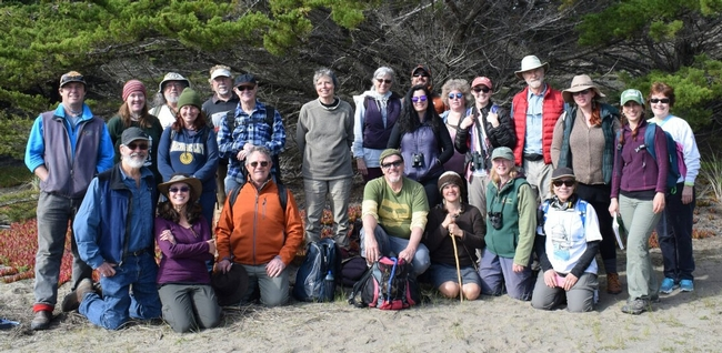 2017 Stewards of the Coast & Redwoods class at their Bodega Dunes campout.