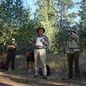Steve Barnhart opens the 'Oaks of Pepperwood' excursion during the California Naturalist Regional Rendezvous.