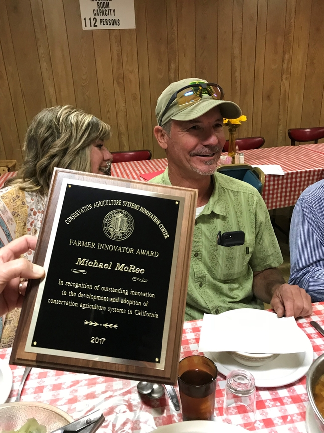 Michael McRee of Chowchilla is honored as 2017 CASI Farmer Innovator.