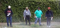 Green Gardener training participants conduct a sprinkler test. for Green Blog Blog