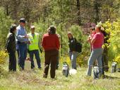 UCCE rangeland advisor meets with ranchers in the field to discuss rangeland management decisions.