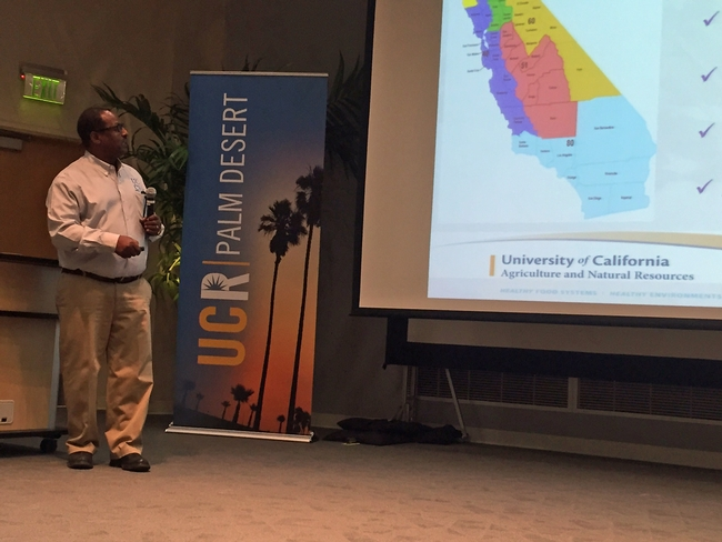 Director of UC Cooperative Extension in Imperial County, Oli Bachie, is chair of the UC ANR Desert Workgroup. for Green Blog Blog