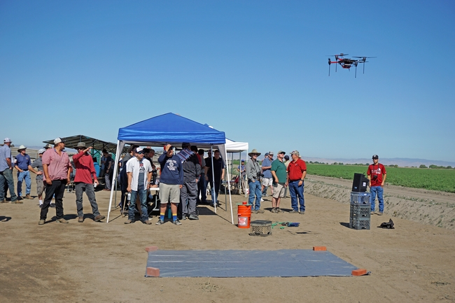 During a field day demonstration, this drone flew autonomously back and forth over the field, then landed within two feet of the takeoff location. for Green Blog Blog