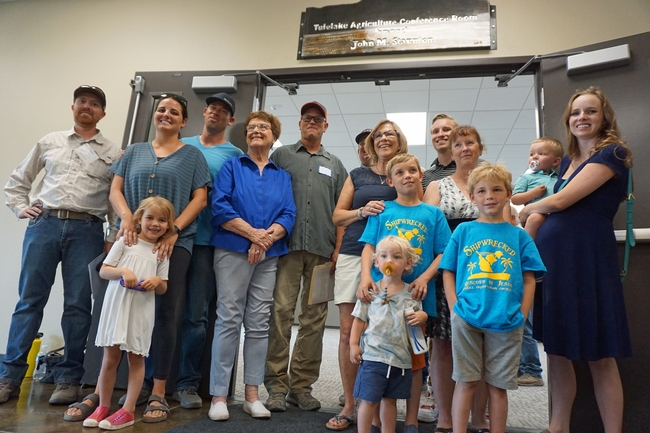 The Staunton farming family attended the building opening, where a conference room has been named for the family patriarch John Staunton.