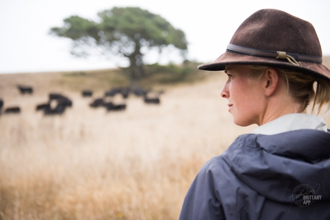 California rancher Ariel Greenwood looks out at rangeland. (Brittany App/Brittany App Photography)