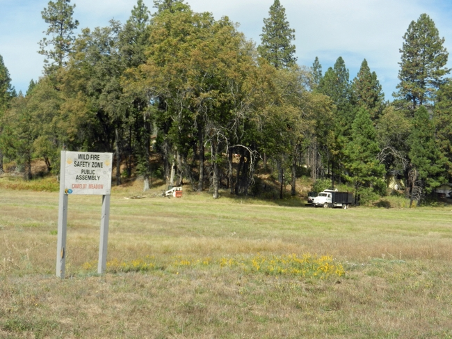 A wildfire safety zone at Camelot Meadow. (Photo: Butte County Fire Safe Council)