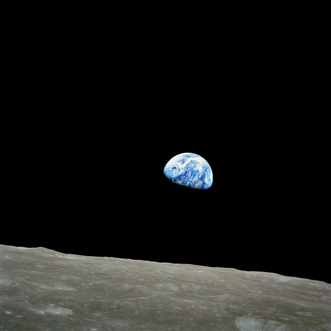December 1968 Earth rise.