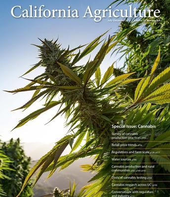 UC ANR's California Agriculture journal presents a special issue on cannabis