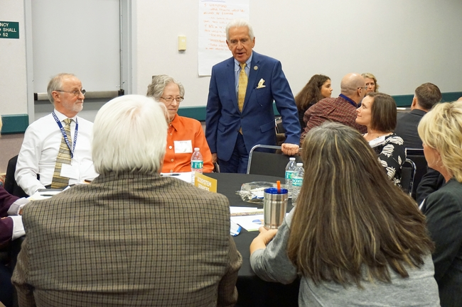 U.S. Congressman Jim Costa contributes to the discussion about California ecosystem services.