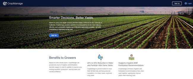 More than 2,000 Salinas Valley users have signed up to use CropManage.