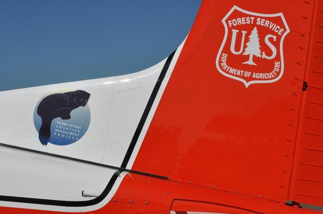 SNAMP logo on the Cessna 185 Tail