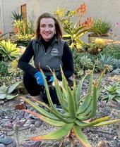 UC Master Gardener Francie Murphy in her succulent garden.
