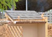 Clearing leaves and pine needles from gutters reduces materials that embers can ignite.
