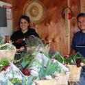 Students preparing food baskets at the UC Davis Student Farm (Photo: Ann Filmer)