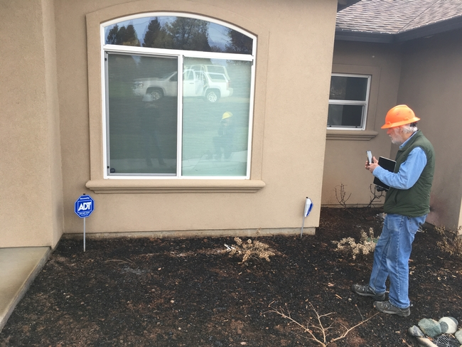 At a home built after 2008, embers ignited combustible mulch and vegetation and led fire to break the first pane of double-pane windows.