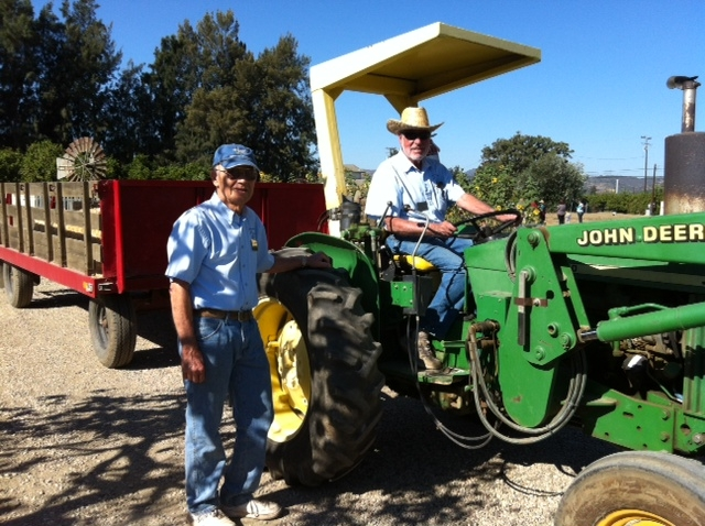 Tractor drivers-volunteers Jim Abing and Len Block