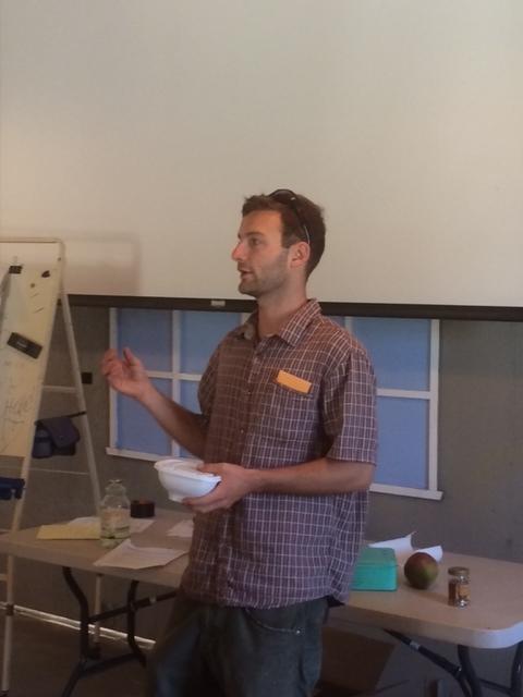 Chris Massa teaches about food packaging