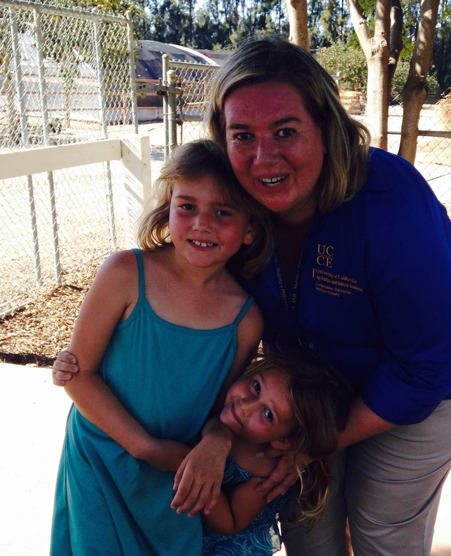 Farm Day event coordinator Gwyn Vanoni and special helpers.