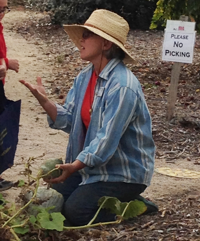 MG Kim Herron teaches youth and adults about winter squash