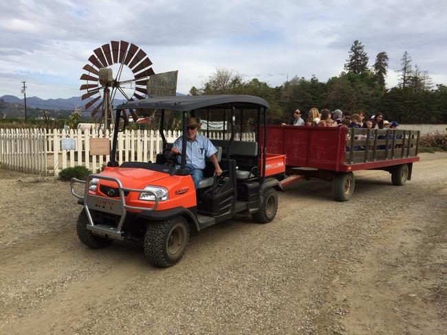 Hay ride with farmer Jim