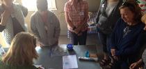 Demonstration on building a worm-composting bin for Hansen News Blog