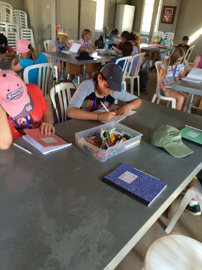 Journaling and reflecting on concepts is a big part of camp