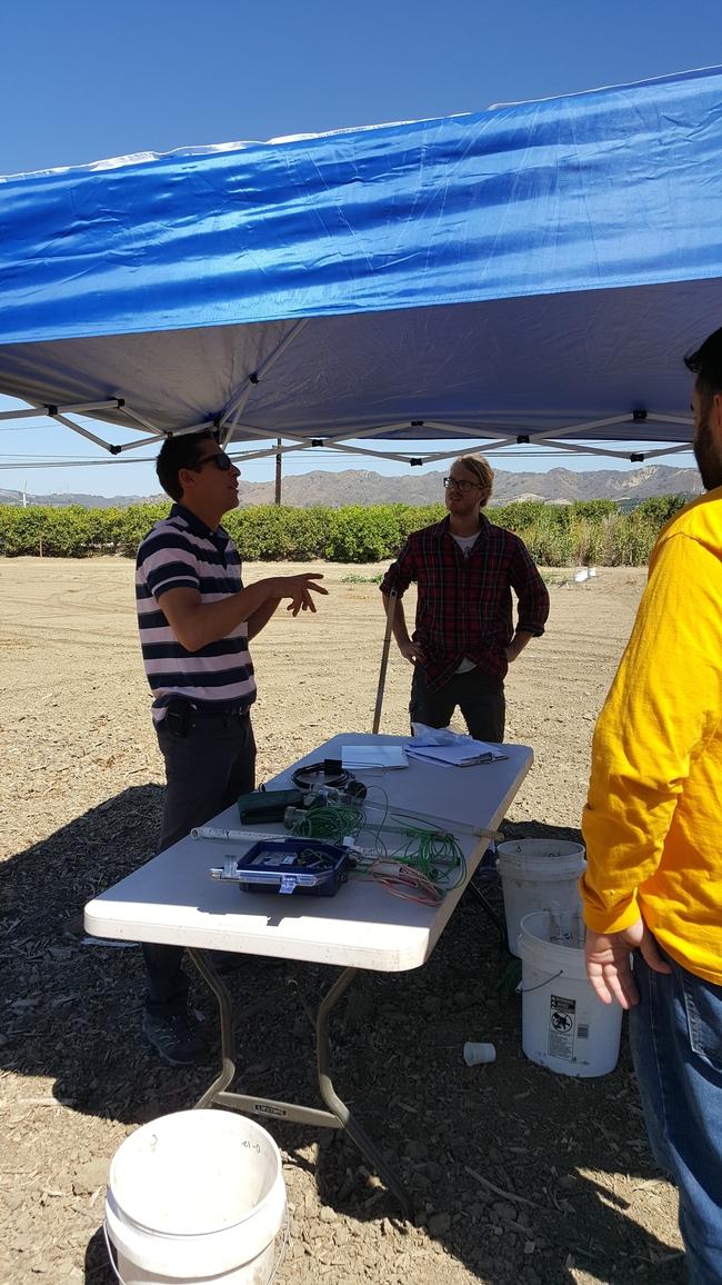 Advisor Andre Biscaro, UCCE Ventura County leads a field demo