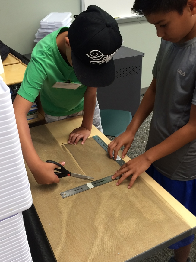 Building a worm bin requires use of math skills