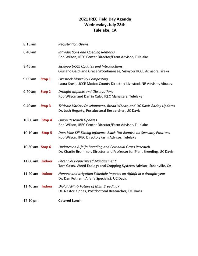 2021 IREC Field Day Agenda Final