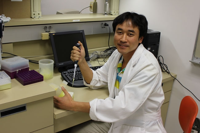 Dr. ShuaiFei Chen is conducting research on botryosphaeriaceae on walnut and pistachio. Chen is from China, buy way of the University of Pretoria in South Africa, where he earned his Ph.D. in microbiology in 2011.