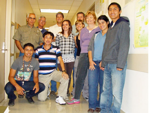Michilaides lab team members, June 2012.