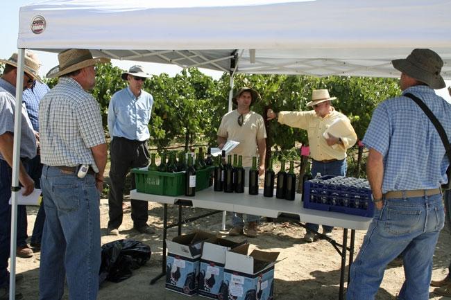 Constellation Brands staff, from left, Dan Bosch, Owen Taylor and John Holmquist.