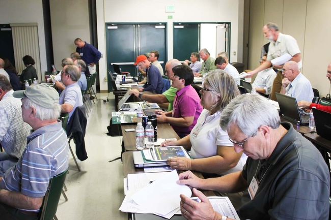 Agricultural pest management professionals training to become registered Technical Service Providers capable of developing conservation activity plans that meet integrated pest management and United States Department of Agriculture Natural Resources Conservation Service guidelines.