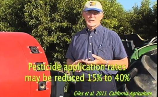 Walt Bentley, retired UC IPM Advisor, narrating a video of a smart sprayer in action.