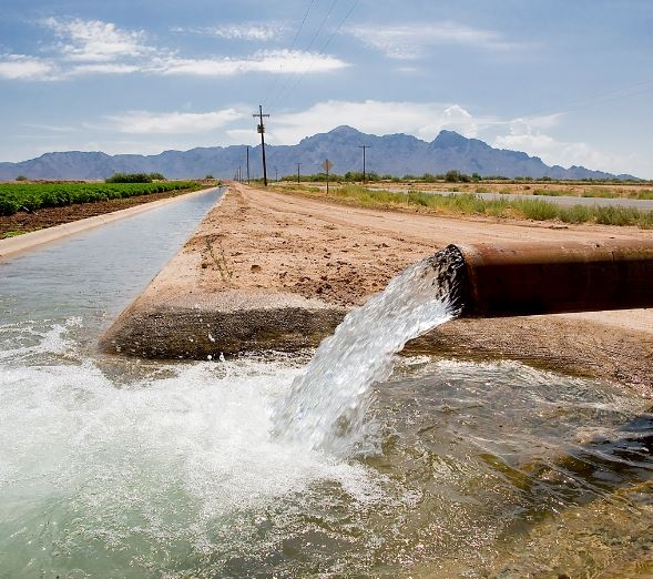 File photograph of an irrigation canal.