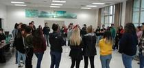 The students circle in a team-building exercise. for Kearney news updates Blog