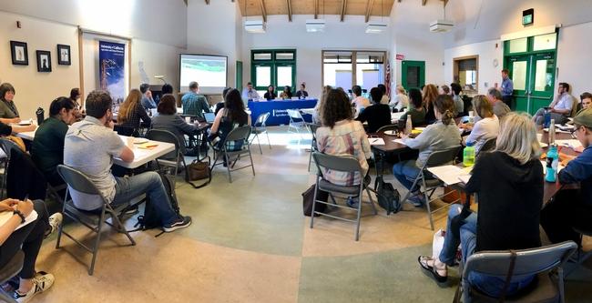 The climate change workshop at Elkus Ranch.
