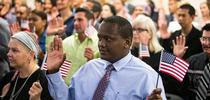 A naturalization ceremony in Tampa, Fla., last month. The government has sought to count everyone living in the United States, legally and otherwise, since the first census in 1790. Credit Monica Herndon/Tampa Bay Times, via Associated Pres for Latino News Briefs Blog