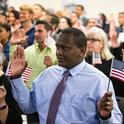 A naturalization ceremony in Tampa, Fla., last month. The government has sought to count everyone living in the United States, legally and otherwise, since the first census in 1790. Credit Monica Herndon/Tampa Bay Times, via Associated Pres