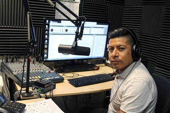 Bernardino Almazan, Radio Indigena programmer -- Courtesy Arcenio Lopez