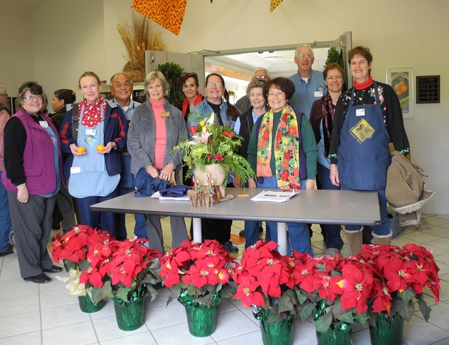 Master Gardener volunteers help with the event