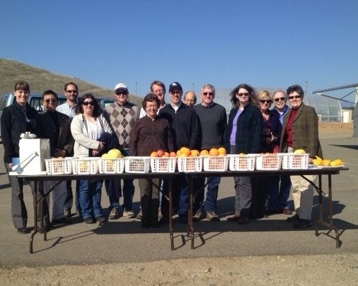 UC ANR Vice-President Barbara Allen-Diaz visits the Lindcove REC fruit at the World Ag Expo