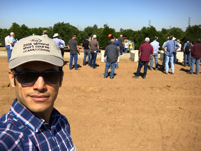 Advisor Ali Pourreza and audience of spray training for Lindcove Research and Extension Center News Blog