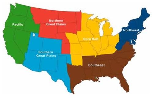 USA Ag Regions