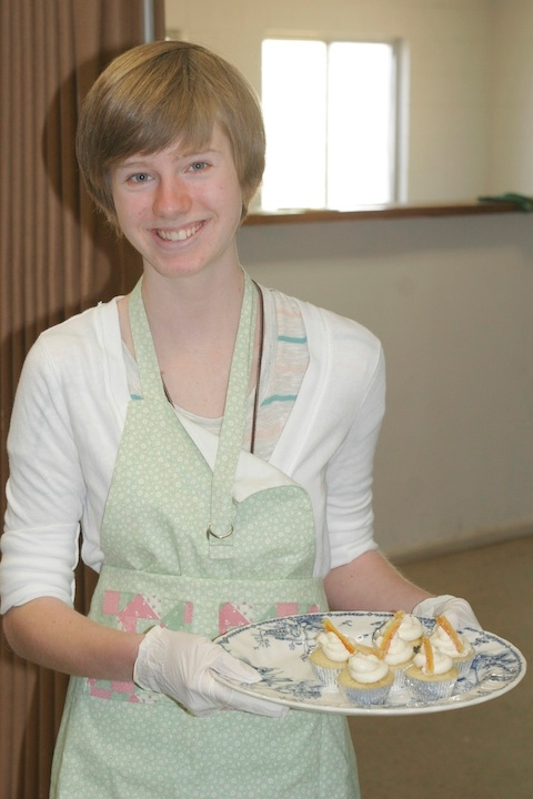 Samantha Sadowsky's winning mini cupcakes