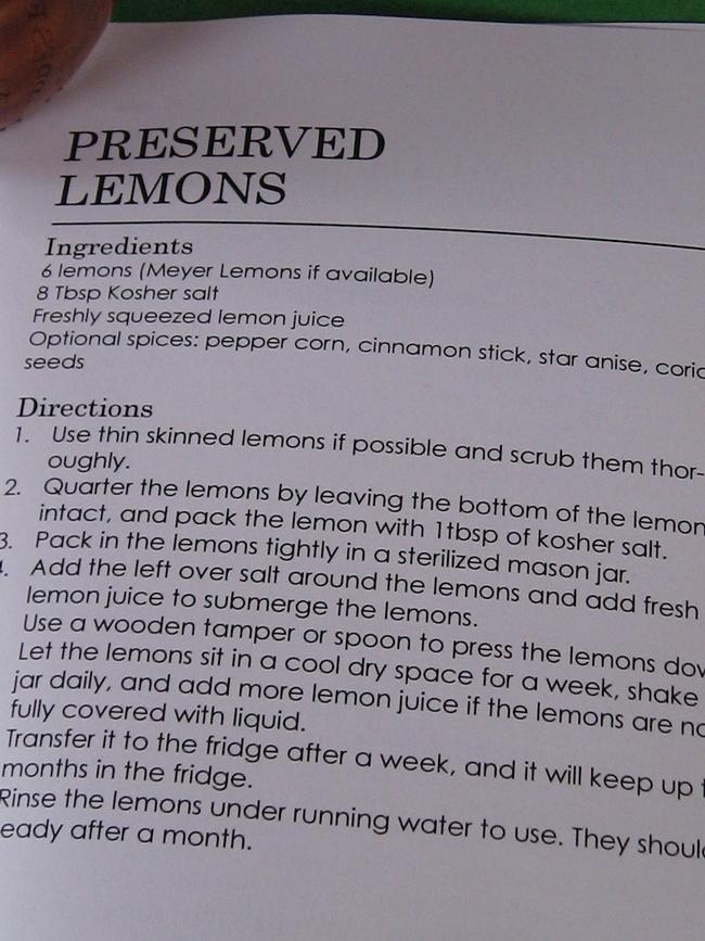 Lemons Recipe