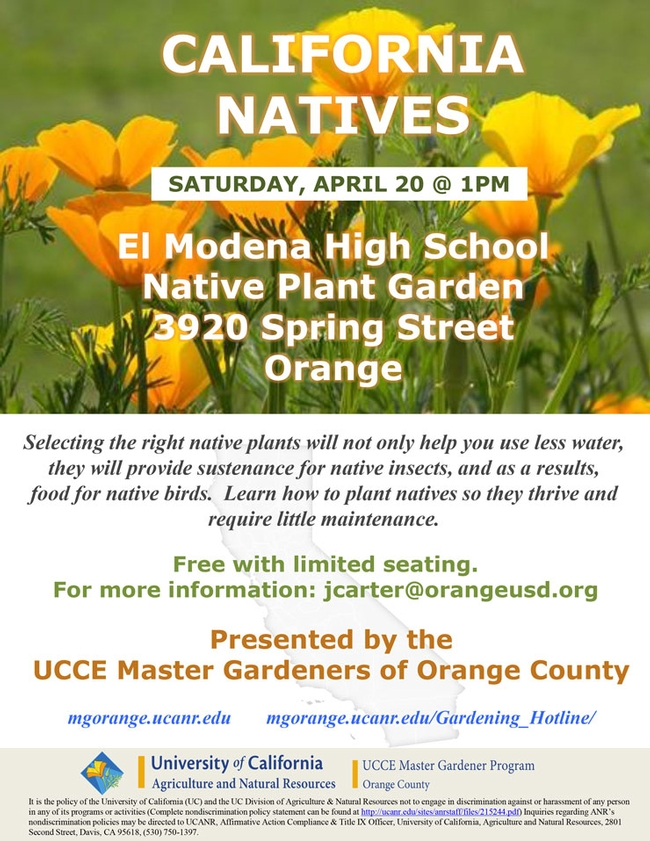 Save The Date For California Natives