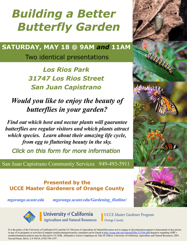 Save The Date For Building a Better Butterfly Garden